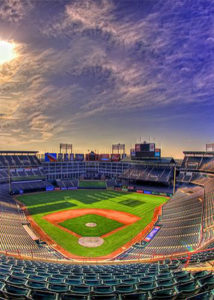 Image of the baseball diamond in Globe Life Park