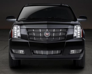 Image of the Cadillac Escalade from the front