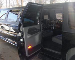Image looking into the Excursion limo