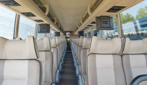 Image of the interior of the charter bus